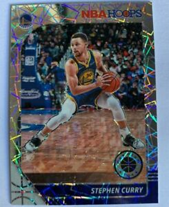 2019/20 Steph Curry Silver Laser Prizm Hoops Premium