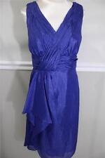 Tahari Arthur S. Levine  shimmering  royal blue v-neck evening  size 10(DR 400)