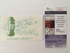 Martin Nodell Signed Autographed 3x5 Card JSA Certified W/ Green Lantern Sketch
