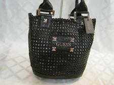 NWT GUESS BLACK OPEN MESH SAND TOTEBAG STYLE #VY056230