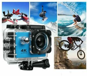 Sport Action Camera Kit  4K HD in Dynamic Blue with Camera Clamp & 16Gb MicroSD