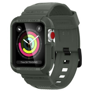 Apple Watch Series 3/2/1 42mm Case Spigen®[Rugged Armor Pro] Military Green