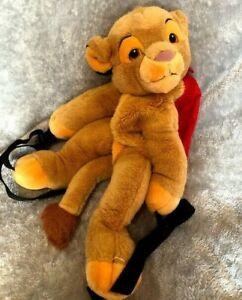 "Disney Simba Backpack 18"" Soft Toy Lion King"