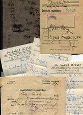 Hungary Kingdom 1930 1946 Stier Lajos Karoly Worker Book Lot Dr.'s Note Document