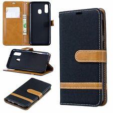 Samsung Galaxy A40 Hülle Case Handy Cover Schutz Tasche Flip Schutzhülle Schwarz