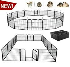 New listing 16 Panel Heavy Duty Portable Metal Indoor Outdoor Exercise Pet Fence Play Pen 2I