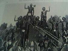 magazine picture 1929 reprint australian natives spears boomerangs sheild