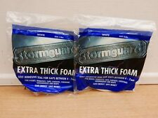2 X PACKS OF STORMGUARD 3.5M EXTRA THICK SELF ADHESIVE FOAM DRAUGHT SEAL WHITE