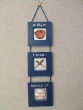 """Pottery Barn Baseball Wall Hanging Decor Boy's Room Bat 6"""" x 26"""" Baseball Glove"""