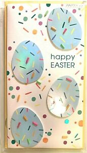 Papyrus Easter Card - Robin Blue Eggs with Beads -Have egg-ceptionally fantastic