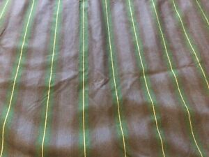 """CURTAINS fm M&S.  100% COTTON. LINED. NAVY STRIPED.54"""" LONG X 84"""" WIDE EACH"""