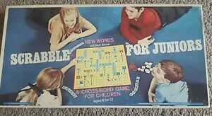 1968 Scrabble for Juniors Board Game Vintage Excellent Condition Selchow Righter