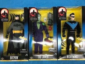 "The New Batman Adventures set of 3 12"" figures - Batman Nightwing Joker - Kenner"