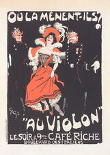 Cafe Riche Oula menent ils by Jules Alexandre Grun 90cm x 64cm Art Paper Print