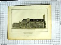 Original Old Antique Print 1819 Westminster Abbey Architecture Roffe Thompson
