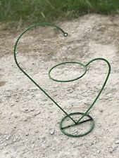 French Plant Stand Wrought Iron Vintage Green Enamel Pot Holder Garden Ornament