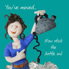 You've Moved New Home Greeting Card One Lump or Two Holy Mackerel Cards