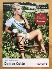 Denise Cotte ak Playboy Playmate autografiada mapa original firmado #2