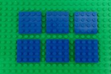 Lego Bulk Blue 4x4 Stud Baseplates Water Platforms Spares - 6 pieces