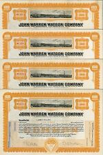 John Warren Watson Company > set of 4 1920s Pennsylvania stock certificates