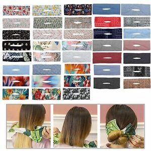 Crown Twister Classy Multicolor Cloth Deft Bun Bow Hair Bands Hair Bun Maker
