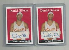 2008-09 Topps Basketball Var. Autograph Daniel Gibson 2-Card Lot