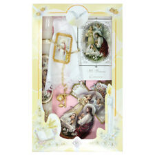 New Girls First Holy Communion Candle Box Gift 6 Pc Set English Missal Rosary