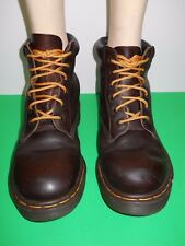 Vintage Dr Doc Martens Padded Collar Boots UK 7 US 8 Made In England