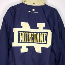 Notre Dame Fighting Irish Jacket Vintage 90s Champion Brand Quilted Lining Large