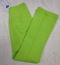 NWT DG2 Diane Gilman Womens PXS Pull-On Lime Green Elastic Waist Stretch Pants
