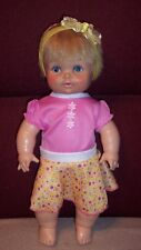 """Vintage 1971  EEGEE Dublon Softina 15"""" Doll Frozen Body New Outfit GUC"""