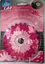Pink Flower Car Air Freshener Tropical & Ylang Ylang Vent Clip Gift Free P&P