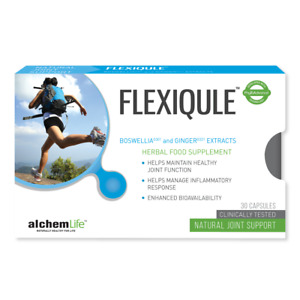 AlchemLife - FlexiQule - NATURAL CARE FOR JOINT STIFFNESS AND PAIN - 30 Capsules