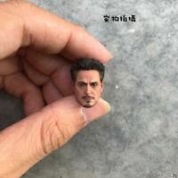 "1/12 Iron Man Head Sculpt Model Tony Stark Fit 6"" SHF Male Action Figure Body"