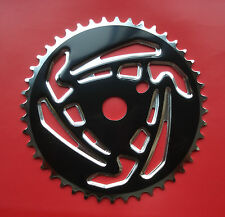 BMX Old School CW Chrome Steel Chainring Chainwheel Sprocket 44T Bicycle NOS