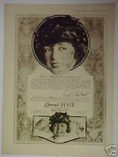 1919 Bonnie B Veil Women Vintage Fashion Photo Print Ad