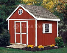 10' x 10'  Storage Classic Gable Structures Shed Plans, Design #21010
