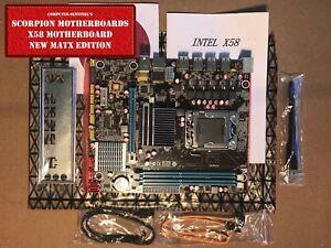 NEW Intel X58, LGA 1366 16GB DDR3 or ECC (Server) mATX Motherboard WiFi OC