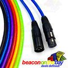 XLR Cable 6 Coloured Balanced Audio Australian Made 3-Pin Lead Mic Cord 30Cm-35M