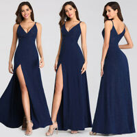 Ever-Pretty Women Fashion Sleeveless Split Long Evening Party Prom Dresses Gowns