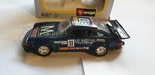 BBURAGO PORSCHE CARRERA RS 0114 1/24 SCALE BLUE GREAT CONDITION BOXED