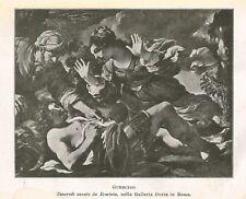 C2288 Guercino - Tancredi sanato da Erminia - Stampa d'epoca - 1916 old print