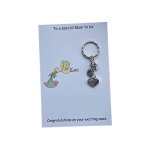 Mum To Be Pregnancy Expecting Handmade Charm Keyring baby shower gift