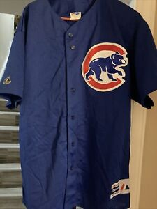 Chicago Cubs MLB Blue Majestic Jersey Adult Men Extra Large XL New Read
