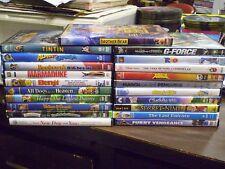 (24) Childrens Animal DVD Lot: Disney Brother Bear  G-Force  Rio  Kung Fu Panda