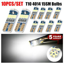 10PCS 6000k Bright White Map Dome License Plate Light LED T10 194 168 W5W Bulbs
