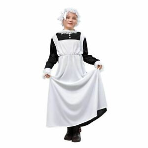 Girls Victorian Maid Poor Fancy Dress Costume World Book Day Week Outfit