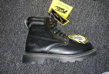 FUDA mens steel toe safety work boot BLACK