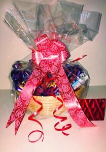 Make Your Own Hamper Gift Box Basket Wicker Bamboo Cellophane Bow Present