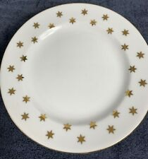 """PARTY TIME 1992 American Atelier Plate 8"""" White w/ Gold Stars (8 Avail)"""